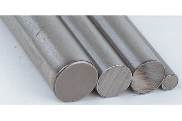 Product image for Silver steel rod stock,1m L 8mm dia