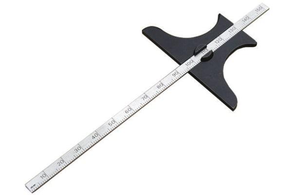 Product image for Metric pocket depth gauge,150mm L