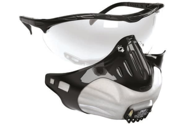 Product image for JSP General PPE Combination Kit Containing Clear HC & Anti-Mist Lens, Filter x 3, Goggles, White Holder