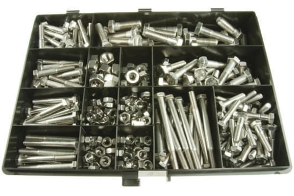 Product image for A2 S/Steel Hexagon Head Bolt & Nut Kit