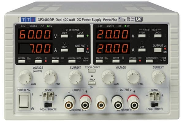 Product image for Aim-TTi Bench Power Supply, , 840W, 2 Output , , 0 → 60V, 0 → 20A