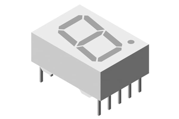 Product image for DISPLAY SEGMENTED 1DIGIT 8LED HI-INT RED