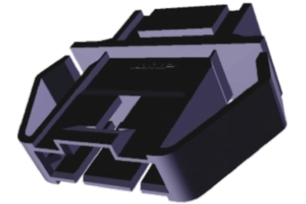 Product image for TE Connectivity, AMPMODU MTE Female Connector Housing, 2.54mm Pitch, 5 Way, 1 Row