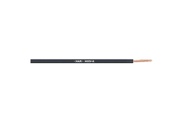 Product image for H05 V-K Single core Black 0.75mm