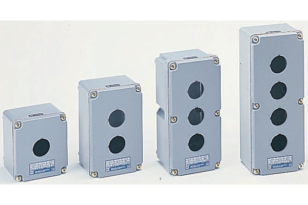 Product image for IP66 2 way metal pushbutton enclosure