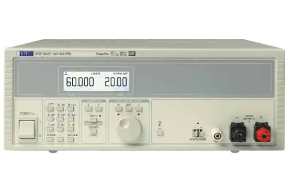 Product image for Aim-TTi Bench Power Supply, , 1.2kW, 1 Output , , 0 → 60V, 0 → 50A