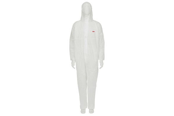 Product image for 3M 4500 White Protective Coverall, L
