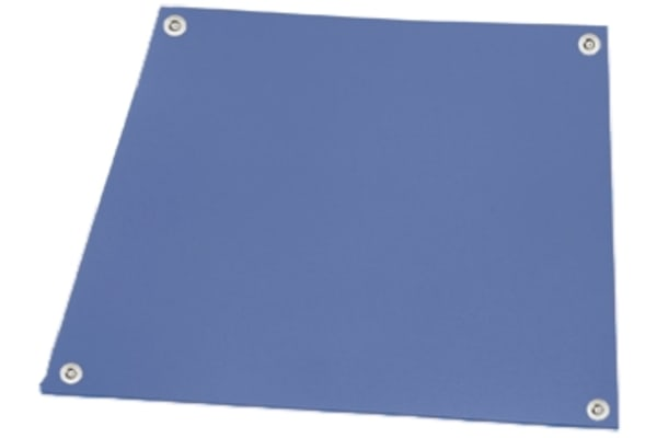 Product image for STATFREE RUBBER BENCH MAT, BLUE 0.6X1.2M