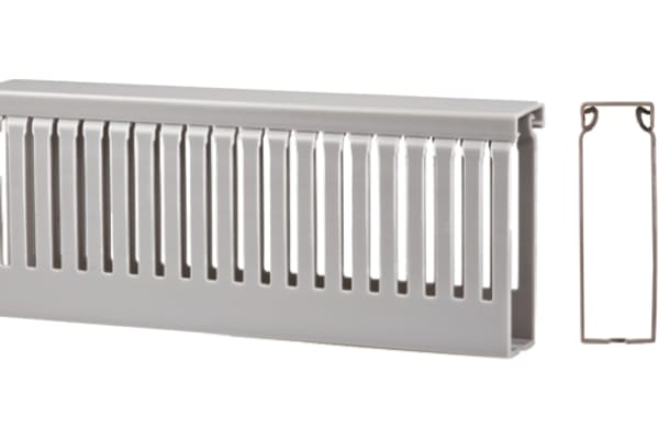 Product image for Slotted trunking narrow 4mm 100Wx100 x2m