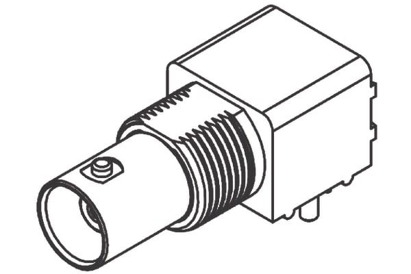 Product image for BNC PCB + BULKHEAD 50 OHMS 90DEG