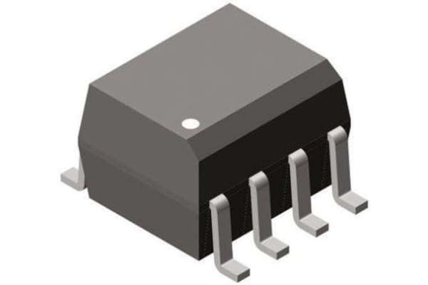 Product image for Optocoupler 2-Ch 10MBit/s Logic SOIC8