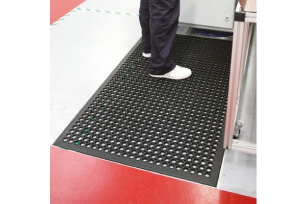 Product image for COBA Rampmat Individual Rubber Anti-Fatigue Mat x 900mm, 1.5m x 10mm