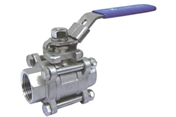 Product image for 3pc Full Bore Ball Valve,1 1/4in BSPPF-F