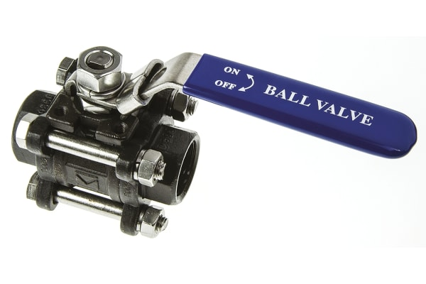 Product image for 3pc Full Bore Ball Valve,3/4in. S/steel