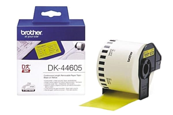 Product image for BROTHER REMOVABLE YELLOW PAPER 62MM