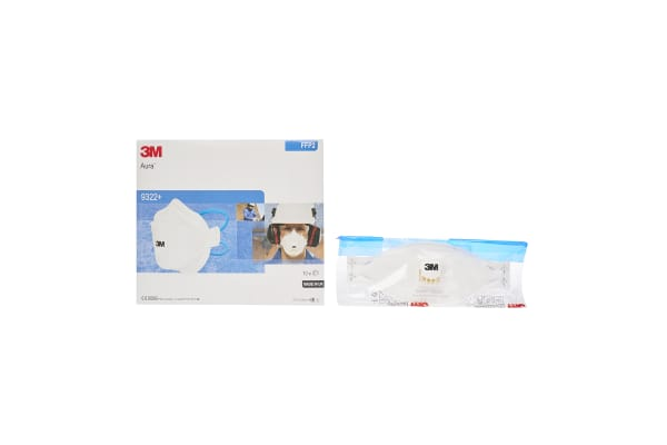 Product image for Aura 9322+ FFP2 Valved Dust Respirator