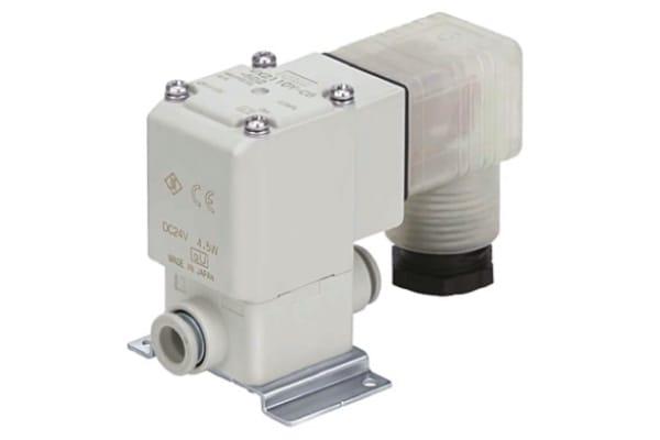 Product image for 2 port solenoid valve, 6mm, 24Vdc, NBR