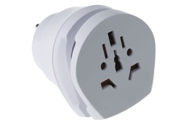 Product image for RS PRO Australia, China, Europe, Italy, Switzerland, UK to Europe, US Travel Adapter, Rated At 15A