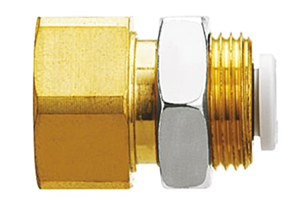 Product image for BULKHEAD CONNECTOR 4MM TO 1/4