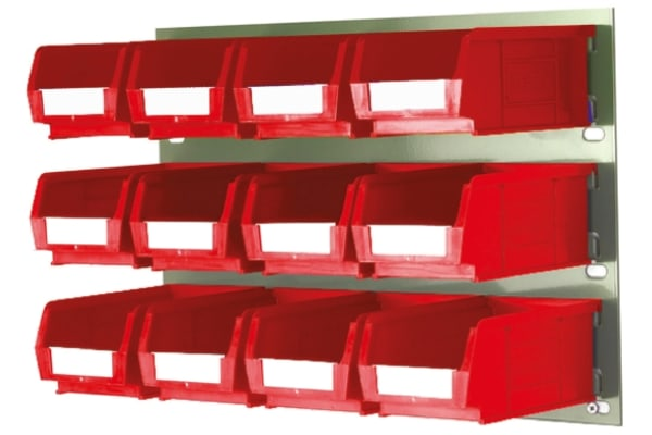 Product image for 12 x Red Storage Bin & Louvre Panel Kit