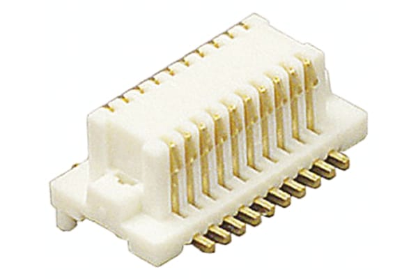 Product image for 0.5MM PITCH PCB 20 WAY RECEPTACLE