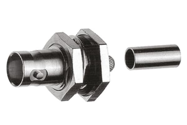 Product image for BNC BULKHEAD JACK CRIMP 75OHM (RG59B/U)