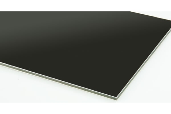 Product image for Black composite sheet 3mm, 0.6m square