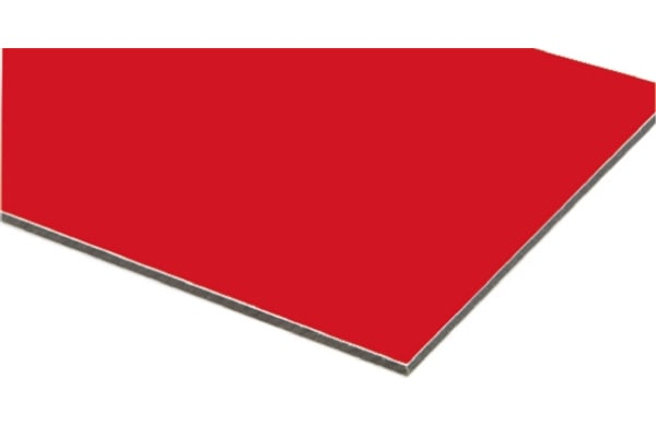 Product image for Red composite sheet 3mm, 0.6m square