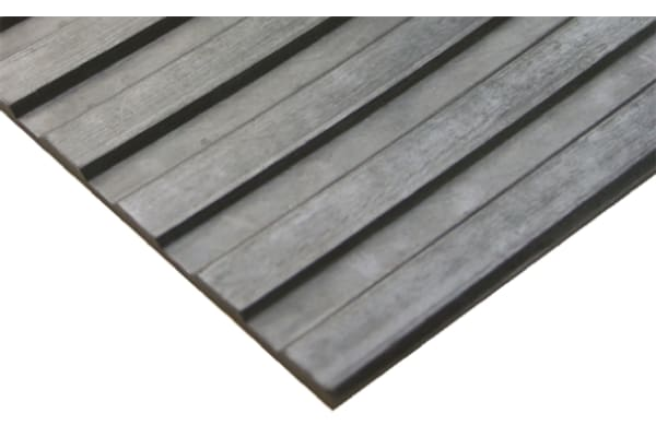 Product image for COBA Black Anti-Slip Rubber Mat With Solid Surface Finish 10m (Length) 900mm (Width) 3mm (Thickness)