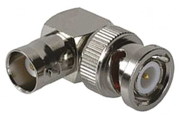 Product image for BNC adapter,jack-plug, right angle,50Ohm