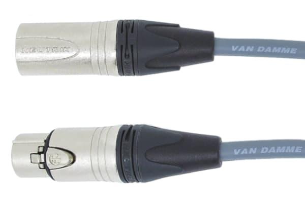 Product image for 1PR DMX LEAD 5 PIN XLR GREY 3M