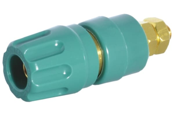 Product image for 4mm panel socket,green,35A,60VDC,CAT I