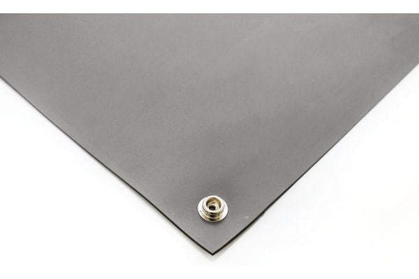 Product image for Grey Conductive Rubber Mat 1.2m x 0.6m
