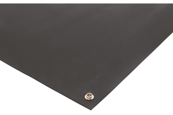 Product image for Black ESD Bench Mat 1.2m x 0.6m x 2mm