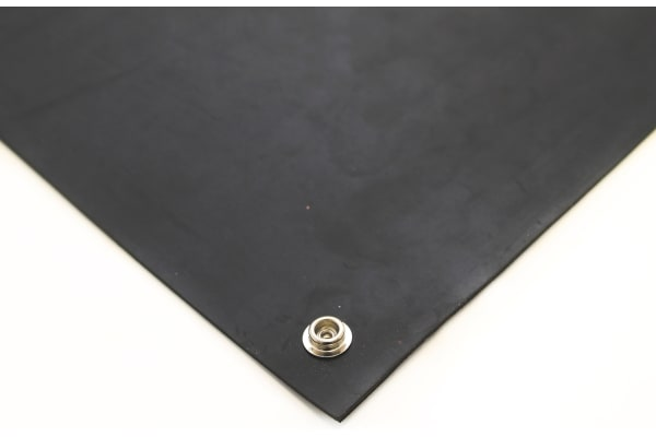 Product image for Black ESD Floor Mat 1.2m x 0.6m x 3mm