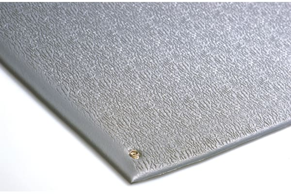 Product image for Grey ESD Anti-Fatigue Mat 0.9m x 0.6m