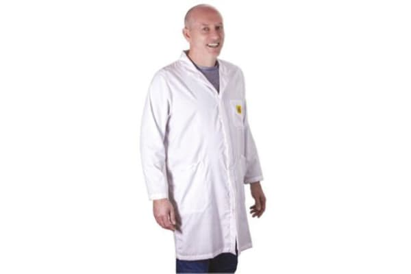 Product image for ESD UNISEX LAB COAT, SMALL
