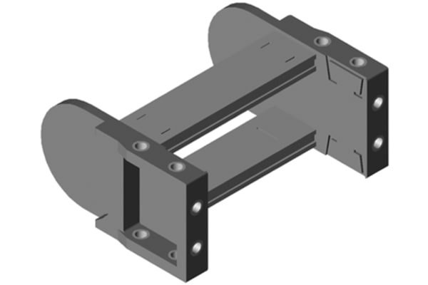 Product image for CABLE CHAIN END BRACKETS H 32MM X W100