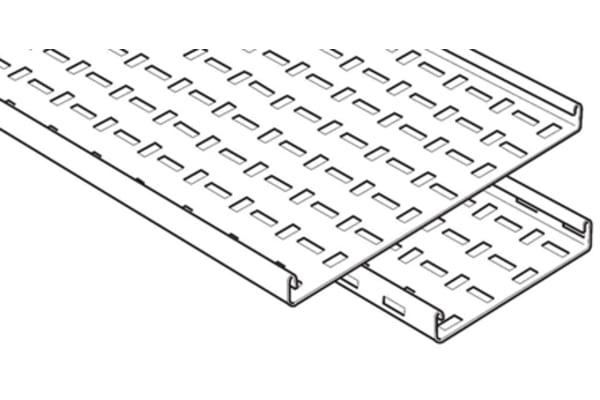 Product image for Legrand Medium Duty Tray, Pre-Galvanised Steel 3m x 50 mm x 25mm