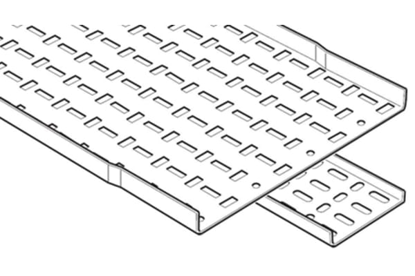 Product image for LIGHT DUTY CABLE TRAY PRE GALV 150MM 3M