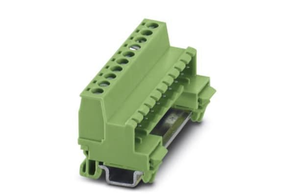 Product image for DIN rail terminal block,NS15,5.08mm,10w