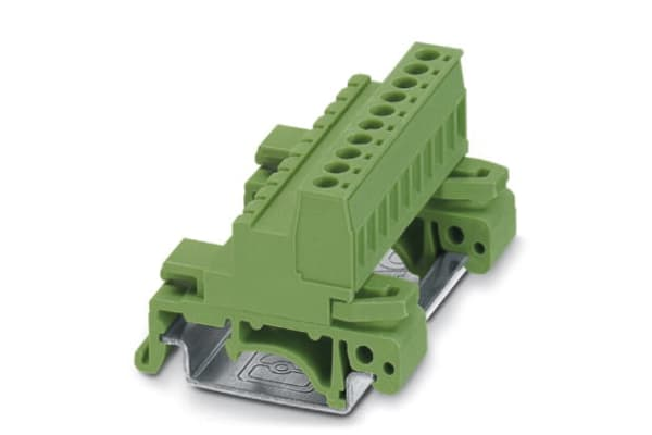Product image for DIN rail terminal block,NS32/35,5mm,10w