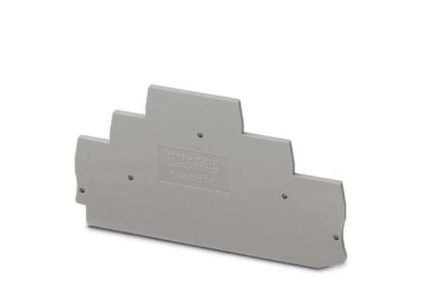 Product image for Terminal Block End Cover, Gray