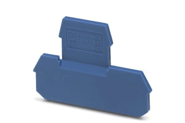 Product image for END COVER BLUE; 62 MM L; 2.5 MM W