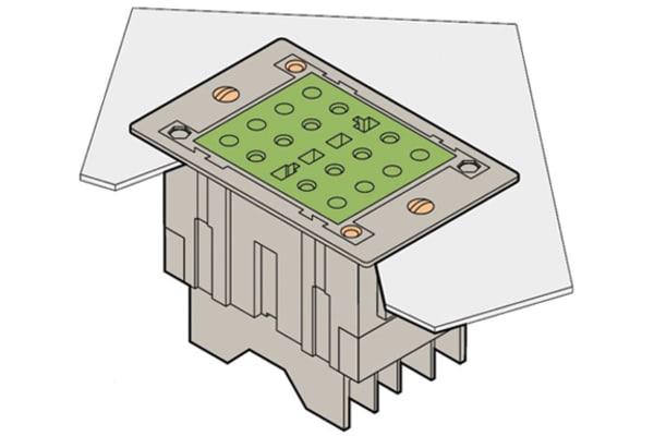 Product image for CURRENT TEST SOCKET FLUSH MOUNT TYPE