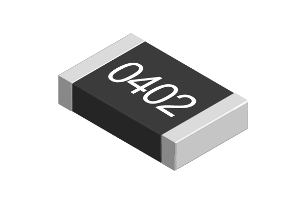 Product image for 0402 Resistor, 0.0625W, 1%, 620K