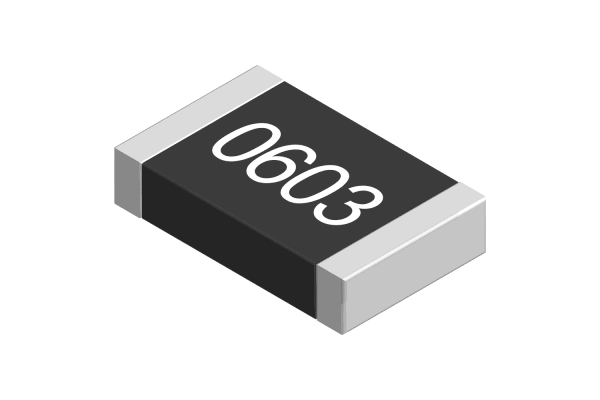 Product image for 0603 Resistor, 0.1W, 1%,100K