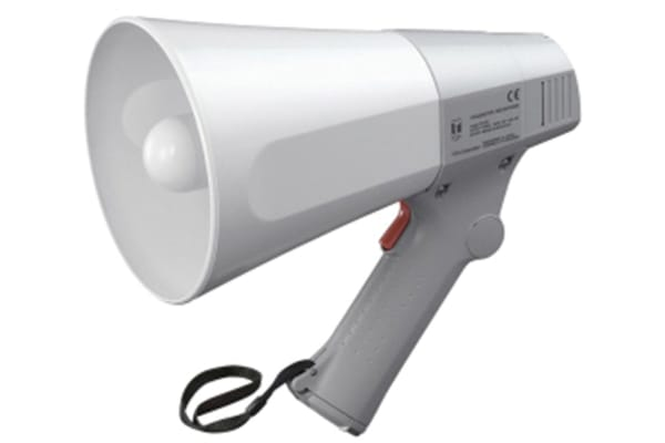 Product image for TOA Grey Hand Grip Megaphone, ER-520, 6 W
