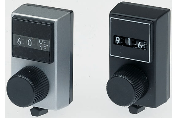 Product image for 10 turn dial, 3 digit, 6mm metric bore