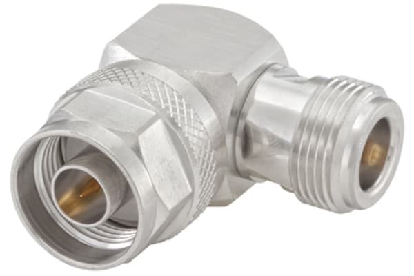 Product image for Right Angle 50Ω Adapter N Plug to N Socket 11GHz